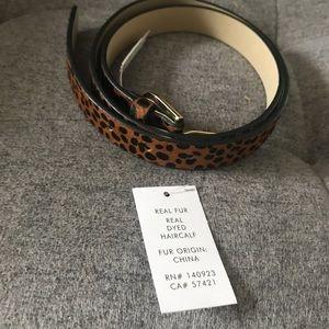 New genuine calf hair belt from the Loft